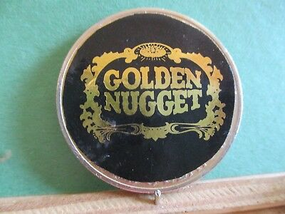 1972 Gold Plated Ike Sticker Dollar Golden Nugget With Cloth Pouch