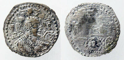 *sc* Two Scarce Silver Drachm Of The Infamous Alchon Huns!