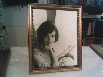 "Jacqueline Kennedy Black And White 8"" X 10"" Inscribed And Signed Photograph"