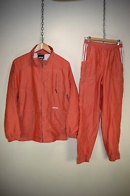 vintage 90s ADIDAS OVERSIZED RAVER FULL TRACKSUIT TOP & BOTTOMS RARE size UK 10