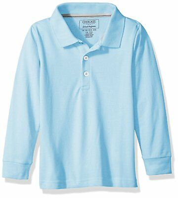 CHEROKEE Boys' Uniform Long-Sleeve Pique Polo  *multiple colors*