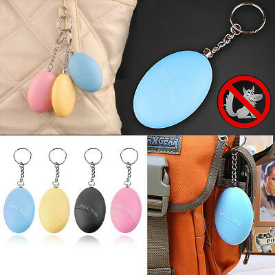 New Safe Sound Personal Alarm Egg Self-Defense Attack Anti-Rape Keychain Grace