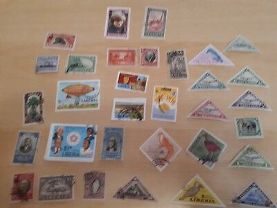 Selection Of Stamps From Liberia