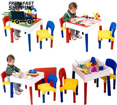 5 in 1 Activity Table And Chairs With Writing Reversible Top Fun Play Time Store