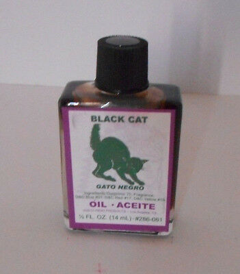 Indio Oil BLACK CAT 1/2 oz 14 ml  (luck, protection)