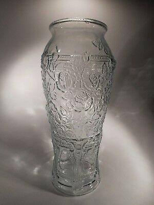 Antique Blown 3 Mold Aqua Colored Thorny Rose Pickle Jar 15 Inches