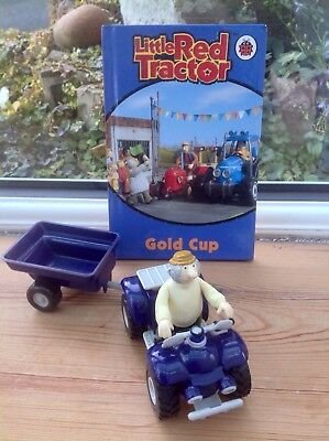 Little Red Tractor Nipper Quad Bike With Trailer And Stumpy Playset