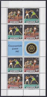 Solomon Islands Mi-Nr. 471 - 472 KB / Sheet **, Commonwealth Games 1982