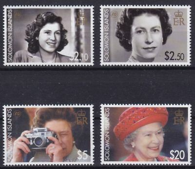 Solomon Islands Mi-Nr. 1286 - 1289 **, Queen Elizabeth II - 80th Birthday (9 ME)