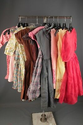 Vtg Girl's 1950s 1960s Dress Lot of 11 As Is Mixed Size 50s 60s Dresses #4499