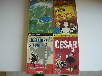 Lot de 3 Gil JOURDAN + 1 CESAR - M.Tillieux - Collection Gdp -
