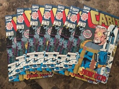 Cable #1 (Marvel 1993) 1st Print~Gold Foil Cover~ 8 NM Copies!!! Grade Worthy!!