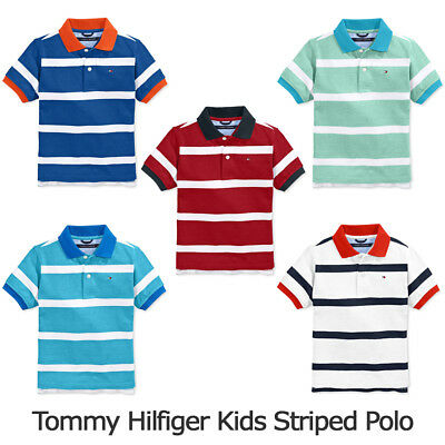 Tommy Hilfiger Kids Boys Striped Polo New with Tag 5 colors Sz S/M/L
