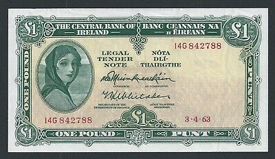 Lady Lavery £1 Note - 1963