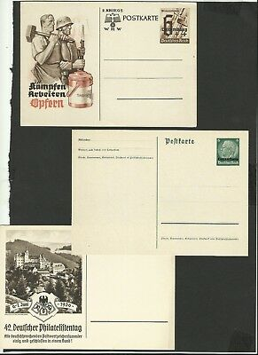 CS35 Luxembourg Luxemburg beautiful unused stationary postcards Deutsches Reich