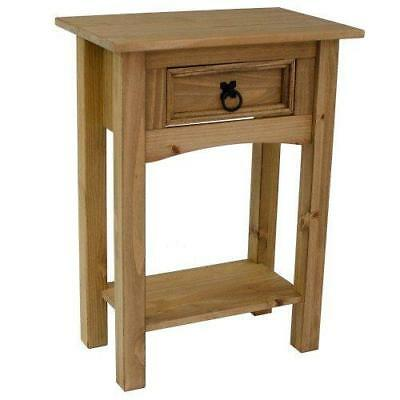 Home Indoor Furniture 1 Drawer Console Table Antique Wax Finish Solid Pine Wood
