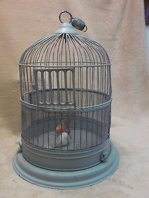VINTAGE CANARY PARAKEET WIRE Art Deco BIRD CAGE