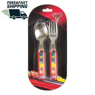 Kids Cars Stainless Steel Cutlery set with Spoon and Fork
