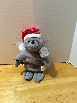 Christmas Seal  Coca Cola Collectible Bean Bag Plush Beanie 1997 #0147