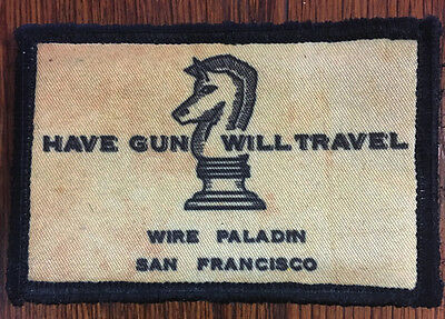 Paladin Have Gun Will Travel Morale Patch Tactical ARMY Hook Military USA Flag
