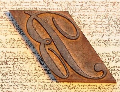 letter: B fancy wood type printing block woodtype font letterpress antique print