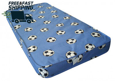 Kids Football Single Mattress Comfort With Fibre Fillings Great For Sporty Kids