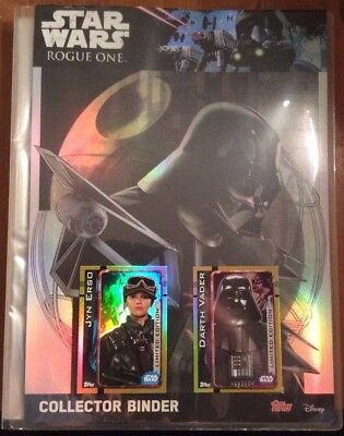 Topps Star Wars Rogue One Collectors Binder + 107 Cards (Inc. 2 Limited Edition)