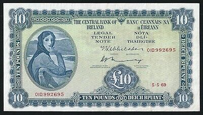 Lady Lavery £10 Note - 1969