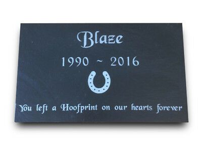 Pet Memorial Personalised Engraved Slate Headstone Grave Marker Plaque HORSE
