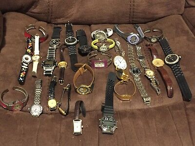 Lot of 20+ Vintage Watches Geneva, Garfield, Citizen, Lorus, etc Not Working