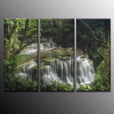 HD Canvas Prints Wall Art Home Decoration Waterfall Pictures-3pcs