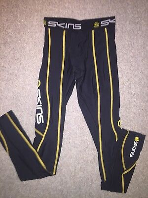 Skins Mens Long Compression Tights Black Size XS Fits More Like A Small