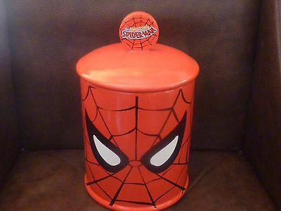 Spiderman Marvel Cookie Canister Jar The Amazing Spider Man Vandor