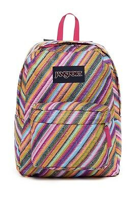 JANSPORT SUPERBREAK BACKPACK Student School Bag Multi Texture Stripe JS00T5010JW