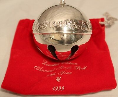 1999 Wallace Silversmith Sleigh Bell Ornament Silverplate 29th Annual
