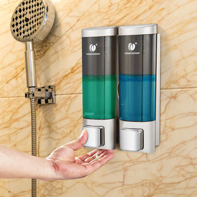 Wall-mounted 400ml Dual Head Dispensador de Jabón Champú Soap Dispenser Nuevo ES