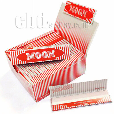 1 box 50 booklets Moon Red Cigarette Tobacco Rolling Papers 108*45mm 1600 leaves