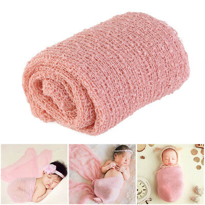 Yarn Gauze Newborn Baby Photography Photo Props Stretch Baby Wraps Blanket US