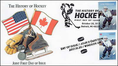 17-342, 2017, History of Hockey, Pictorial Postmark, FDC, Joint Issue