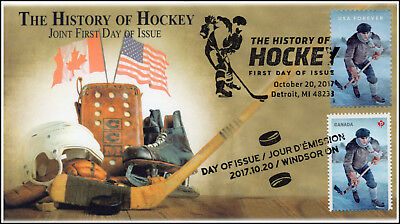 17-343, 2017, History of Hockey, Pictorial Postmark, FDC, Joint Issue