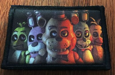 Five Nights at Freddy's Morale Patch Tactical ARMY Hook Military USA Flag Funny