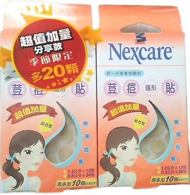 3M Nexcare Acne Patch PIMPLE STICKERS 2 box total 92 pcs Registered Shipping