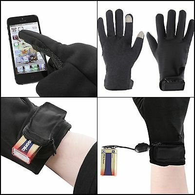 Cold Weather Electric Battery Heated Performance Winter Gloves Warm Mittens - L