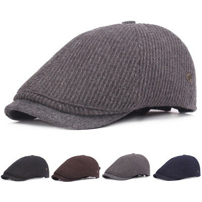 8bea6972e MEN'S STRIPED BERETS Cap Outdoors Casual Visors Peaked Hats For ...