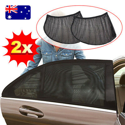 2x Universal Sun Shades Sock Rear Seat Curtain Car Window Sox Baby Protection