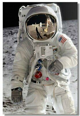 Poster Astronaut on the Moon Earth Planet A Men Drink Beer USA Flag Print 09