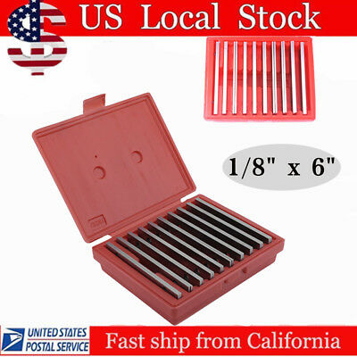"10 pair Parallel 6'' Long 0.0002'' Hardened 1/2 to 1-5/8 1/8"" Steel Parallel Set"