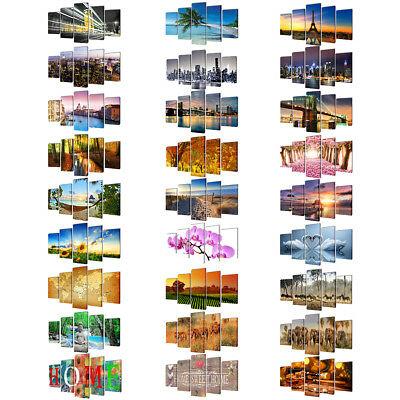 New 5 Panel Canvas Wall Art Print Painting Picture Set 27 Models 2 Sizes