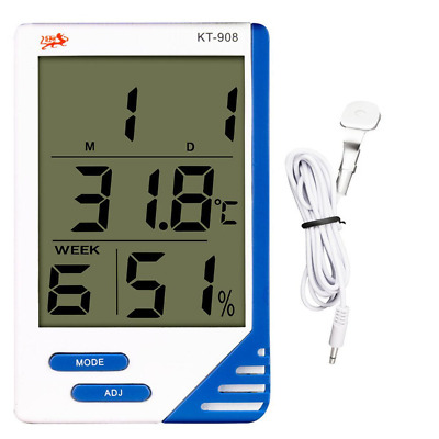 LCD Screen Digital Indoor Outdoor In/Out Thermometer + Hygrometer Humidity Meter