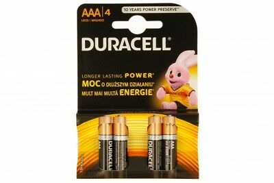 """New Duracell Aaa Size 4 Pack Alkalne Long Lasting Power Batteries""""Mn2400B4Basic"""""""